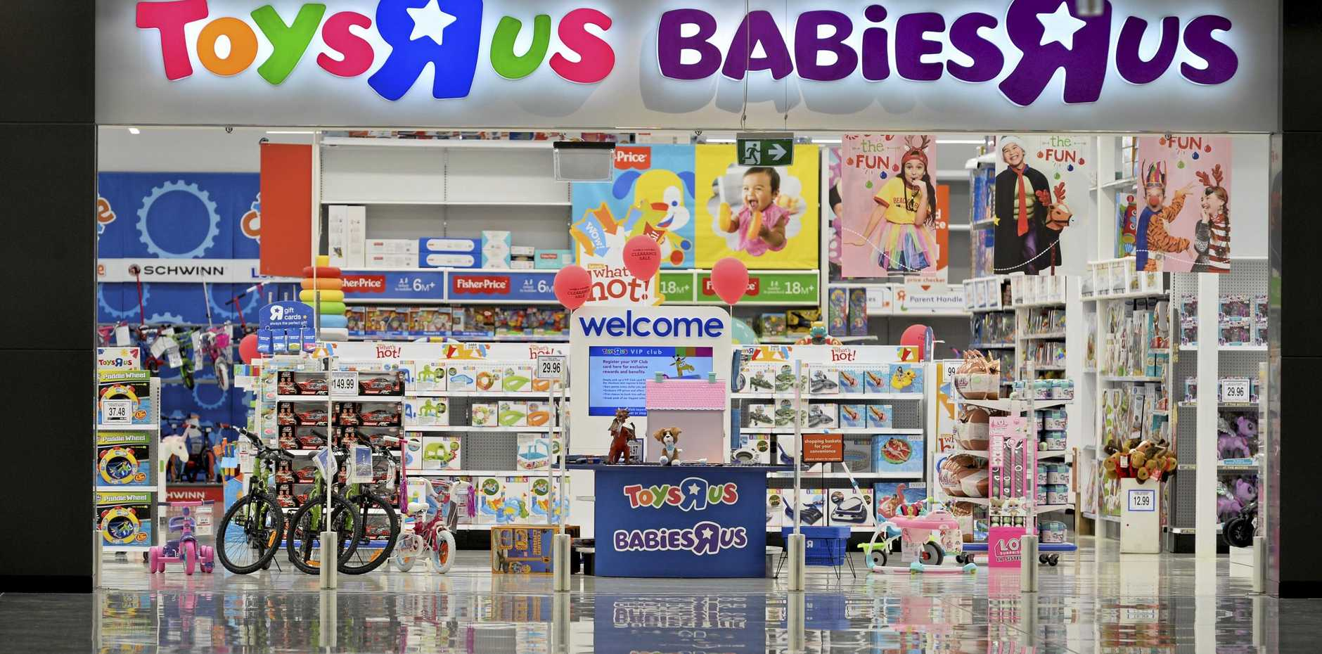 WE'RE FINE: Toys R Us and Babies R Us are urging business as usual.