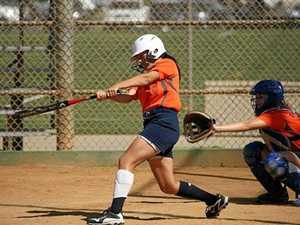 Young softballer hitting it out of the park