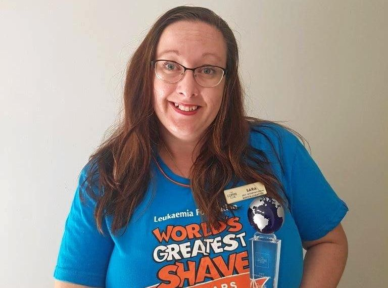 Sara Senius will be shaving her hair off today for World's Greatest Shave for a Cure