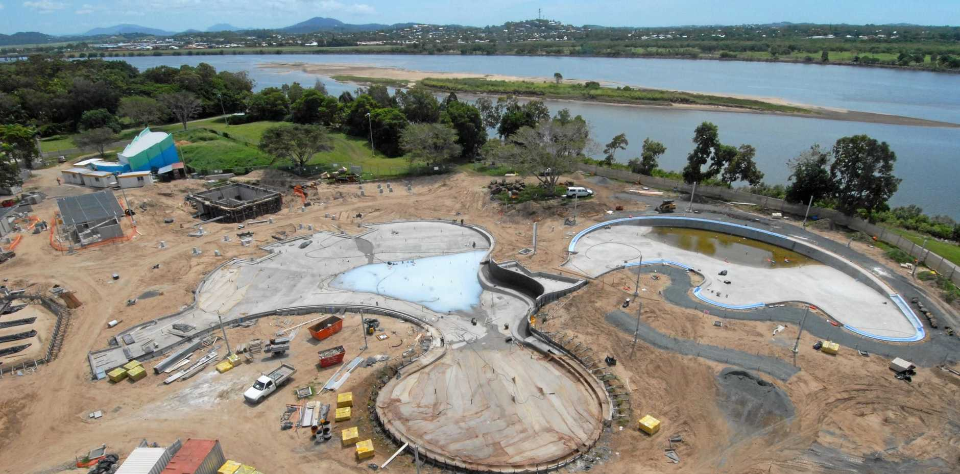 The Bluewater Lagoon under construction in Mackay in 2008