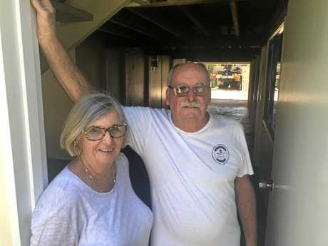 Jan and David Griffith have trouble getting out of their home in the morning because of the volume of traffic waiting to get into Autocorner.