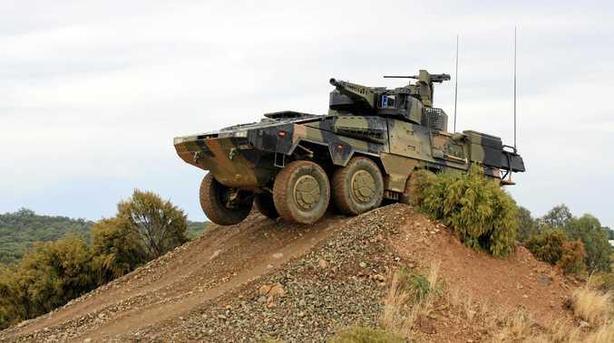 Rheinmetall Defence's Boxer CRV (Combat Reconnaisance Vehicle).