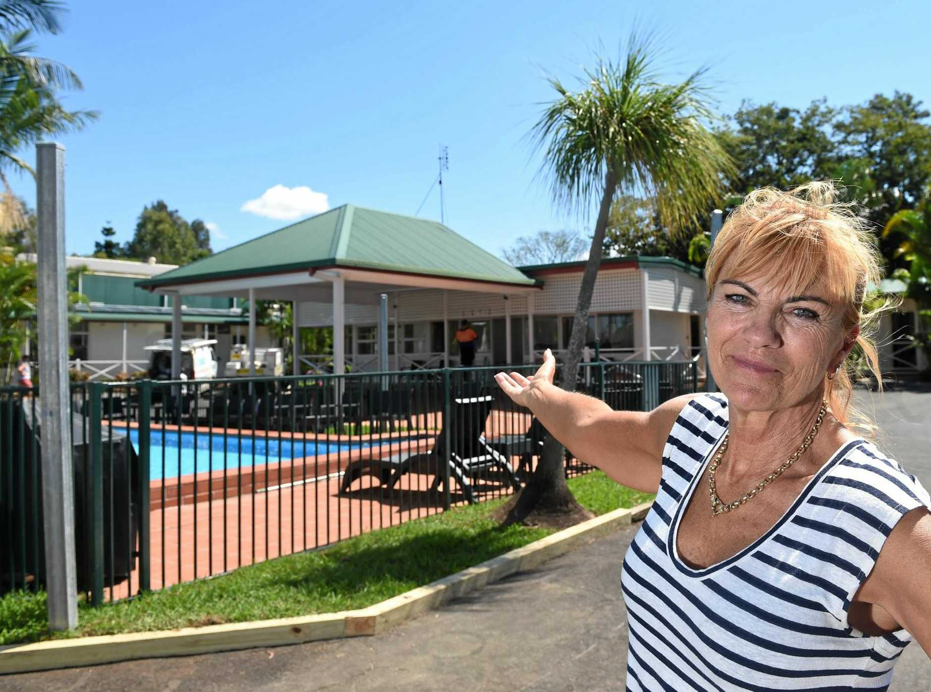 Dawson Motor Inn owner Dianne Nisner, who, with managers Wendy Johnson and Jo Bussell, have been putting the final touches on the inn's renovations after the flood.