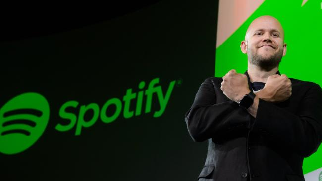 Daniel Ek, chief executive officer and co-founder of Spotify. Private equity has invested in the company which is looking at a $1bn float. APhotographer: Akio Kon/Bloomberg