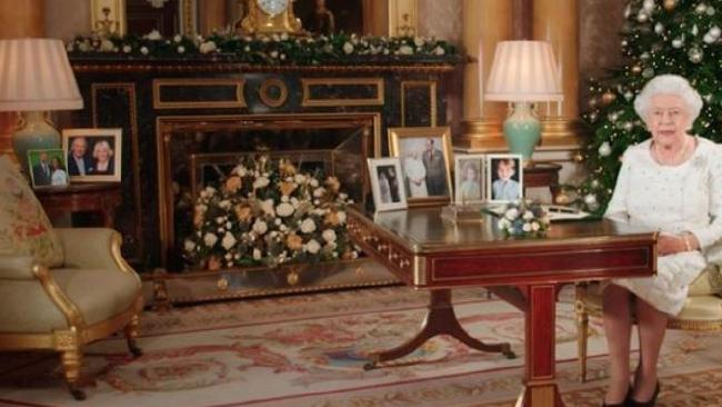 Prince Harry is one the Queen's favourite grandchildren, as illustrated in her Christmas message where a picture of him and Meghan Markle can be seen. Picture: Supplied