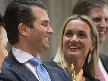 Donald Trump Jr. and his wife Vanessa in happier times. Picture: AP