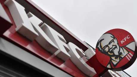 KFC said it was unlikely the maggots would have been there in the store. / AFP PHOTO / BEN STANSALL
