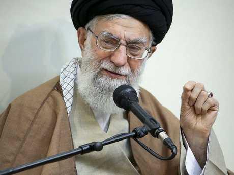 Saudi Arabia's crown prince has likened the Iranian supreme leader, Ayatollah Ali Khamenei to Adolph Hitler. Picture: Office of the Iranian Supreme Leader via AP