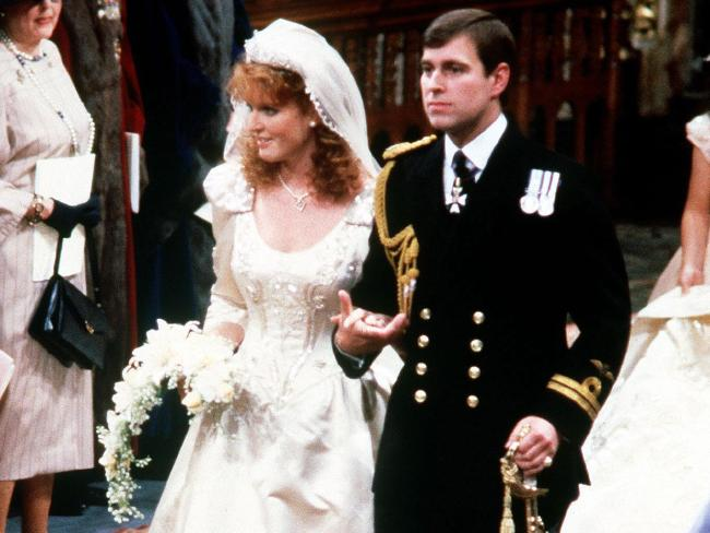 The Queen gave approval for Prince Andrew to marry Sarah Ferguson in 1986. Picture: AP