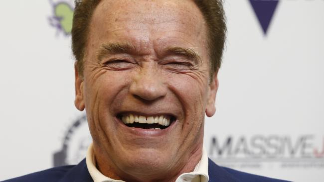 Arnold Schwarzenegger was all laughs at the launch of this year's Arnold Sports Festival. Picture: David Caird