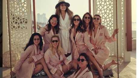 The women were flying home from a Dubai hens' party. Picture: