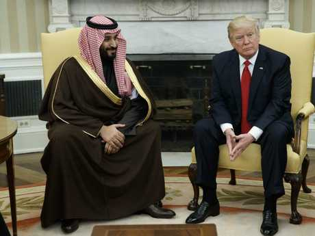 Donald Trump and Crown Prince Mohammed bin Salman are due to meet again next week. Picture: AP/Evan Vucci