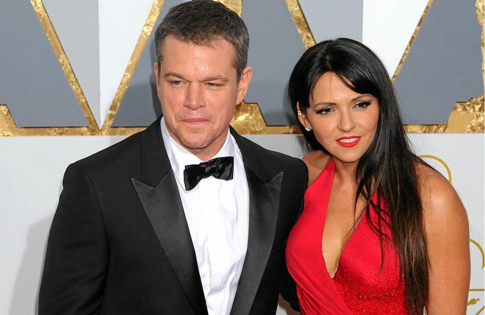 HOLLYWOOD COUPLE: Matt Damon and Luciana Barroso arriving at the 88th Annual Academy Awards at Hollywood & Highland Center on February 28, 2016 in Hollywood, California.