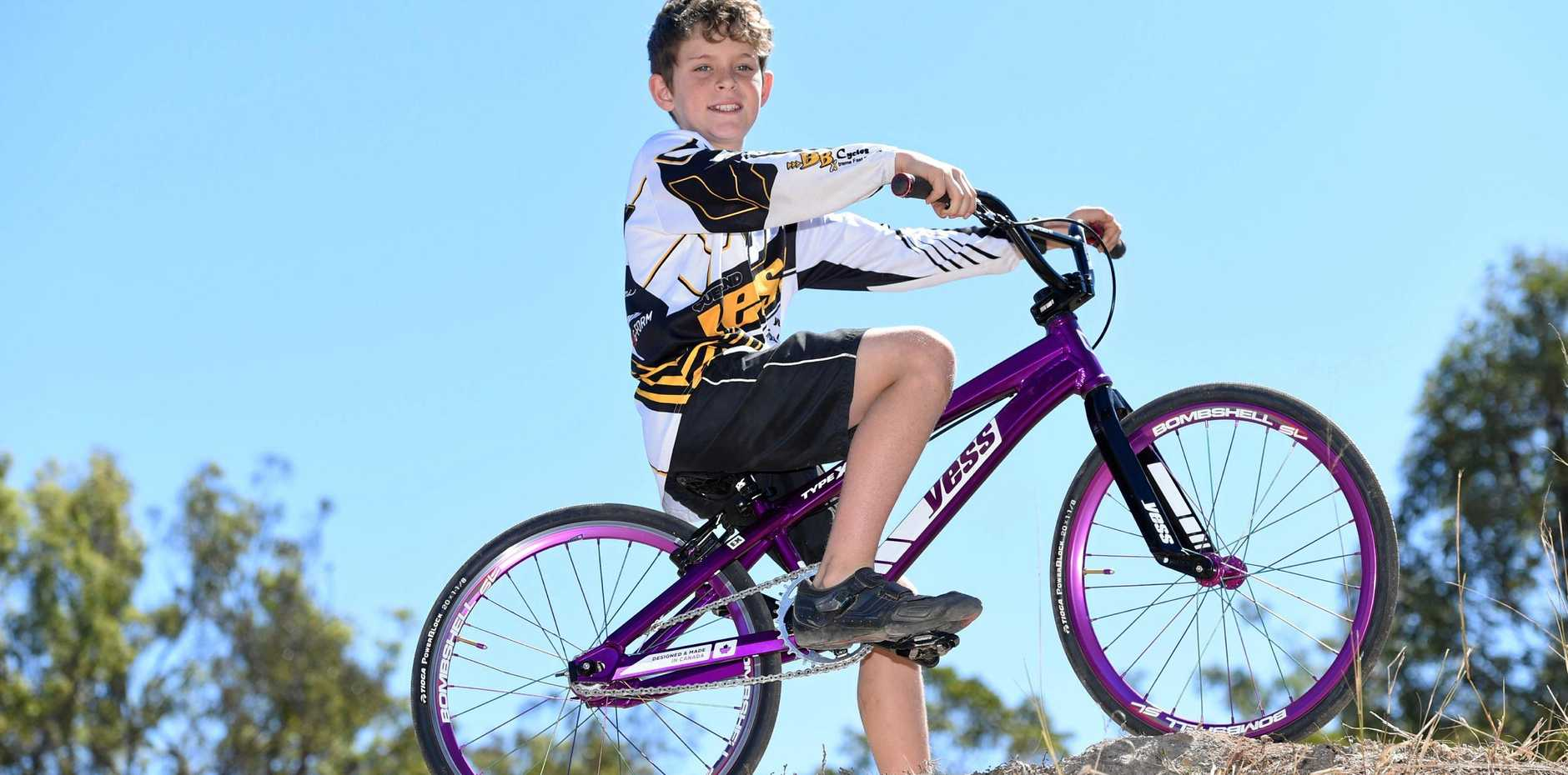 Maryborough BMX rider Aiden Barsby heading to State Championships.