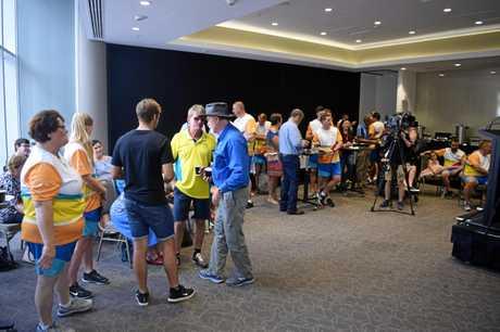 BATON RELAY: Rockhampton region's Commonwealth Games baton bearers celebrated.