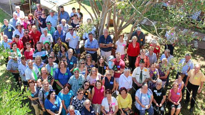 COMING IN DROVES: Over 100 descendants of Freestone's Julie and John Nolan gathered at the pub their ancestor used to patronise. Nolan family reunion, Warwick 2018.