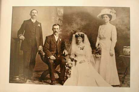 Wedding photo of John and Julia Nolan. Nolan family reunion, Warwick 2018.