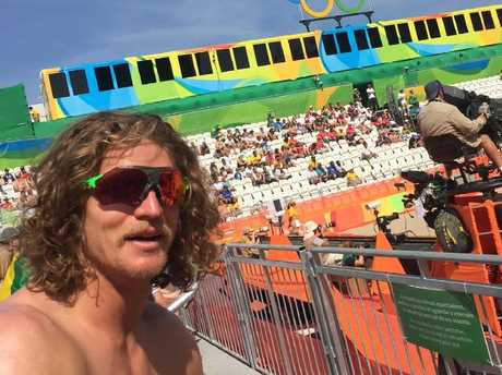 The Honey Badger was loyal to his sponsor in Rio and never took off the signature designer specs.