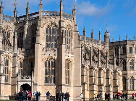St George's Chapel in Windsor, where Prince Harry and Meghan Markle are getting married. Picture: AFP