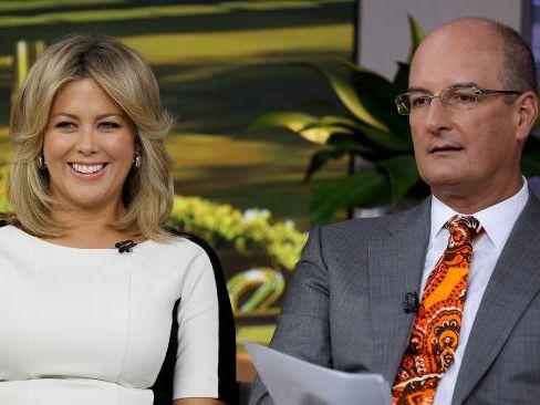 Sunrise co-hosts Samantha Armytage and David Koch.