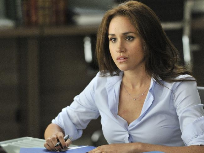 Meghan Markle in TV series Suits. Picture: Supplied