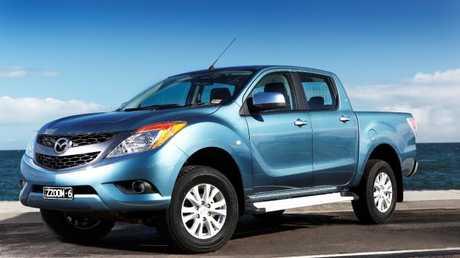 2011-2012 Mazda BT-50 utility (ute).