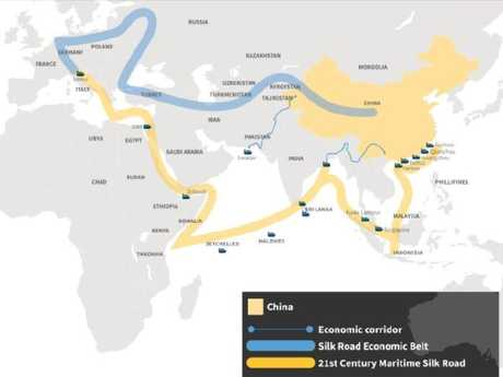 This map details China's One Belt One Road initiative. Source: Lowy Institute