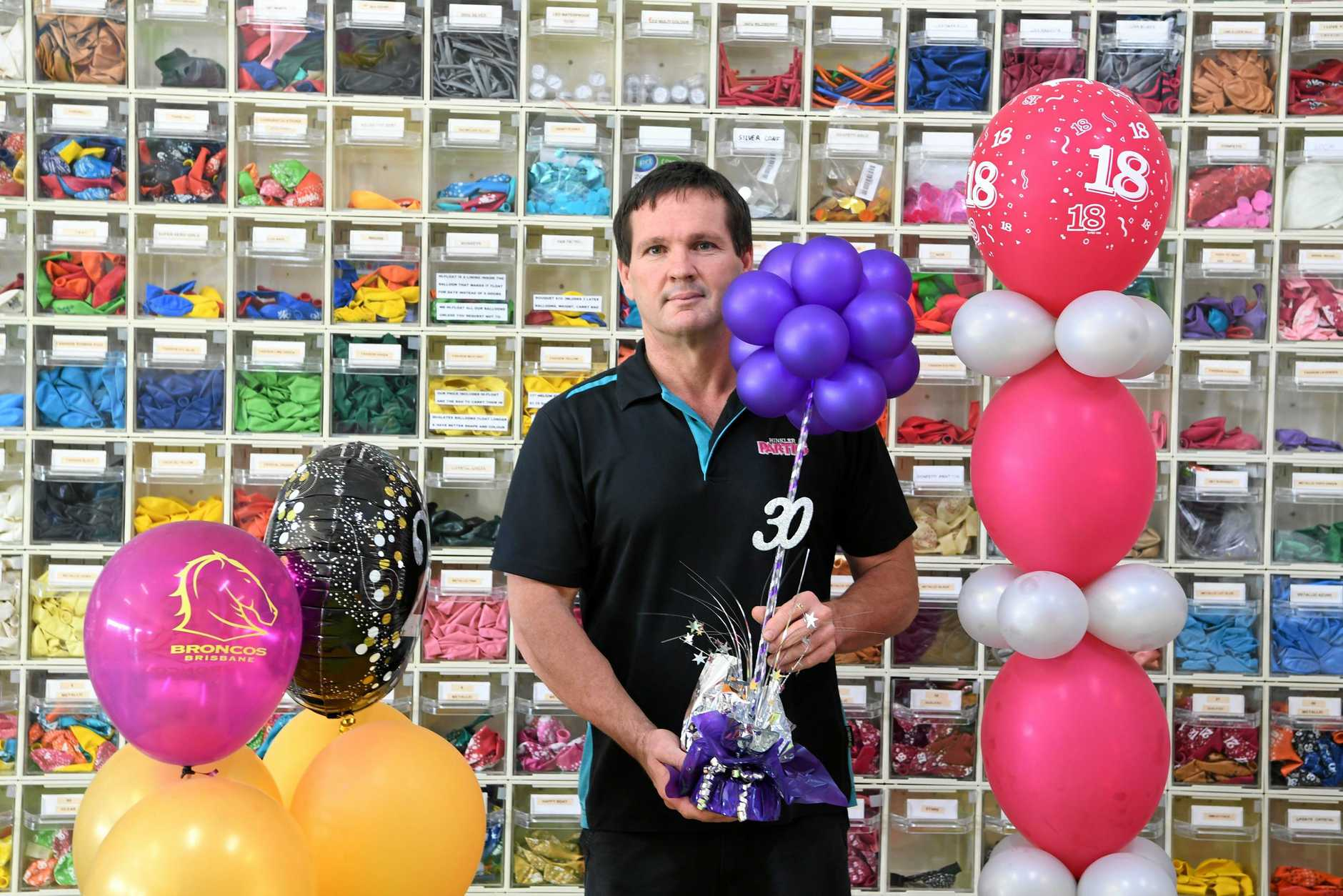SAVE THE TURTLES: Hinkler Parties owner Tony Nagar is saying no to the release of balloons and is urging people to use the