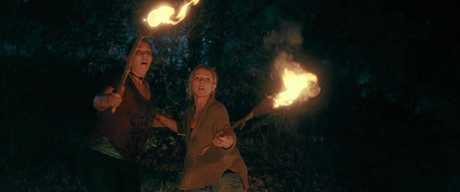 Christie-Lee Britten and Simone Buchanan in a scene from Boar.