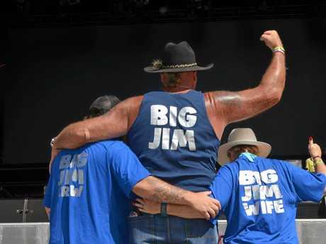 Mick Bodycott, Ian 'Big Jim' Purtell and Min Purtell at CMC Rocks.