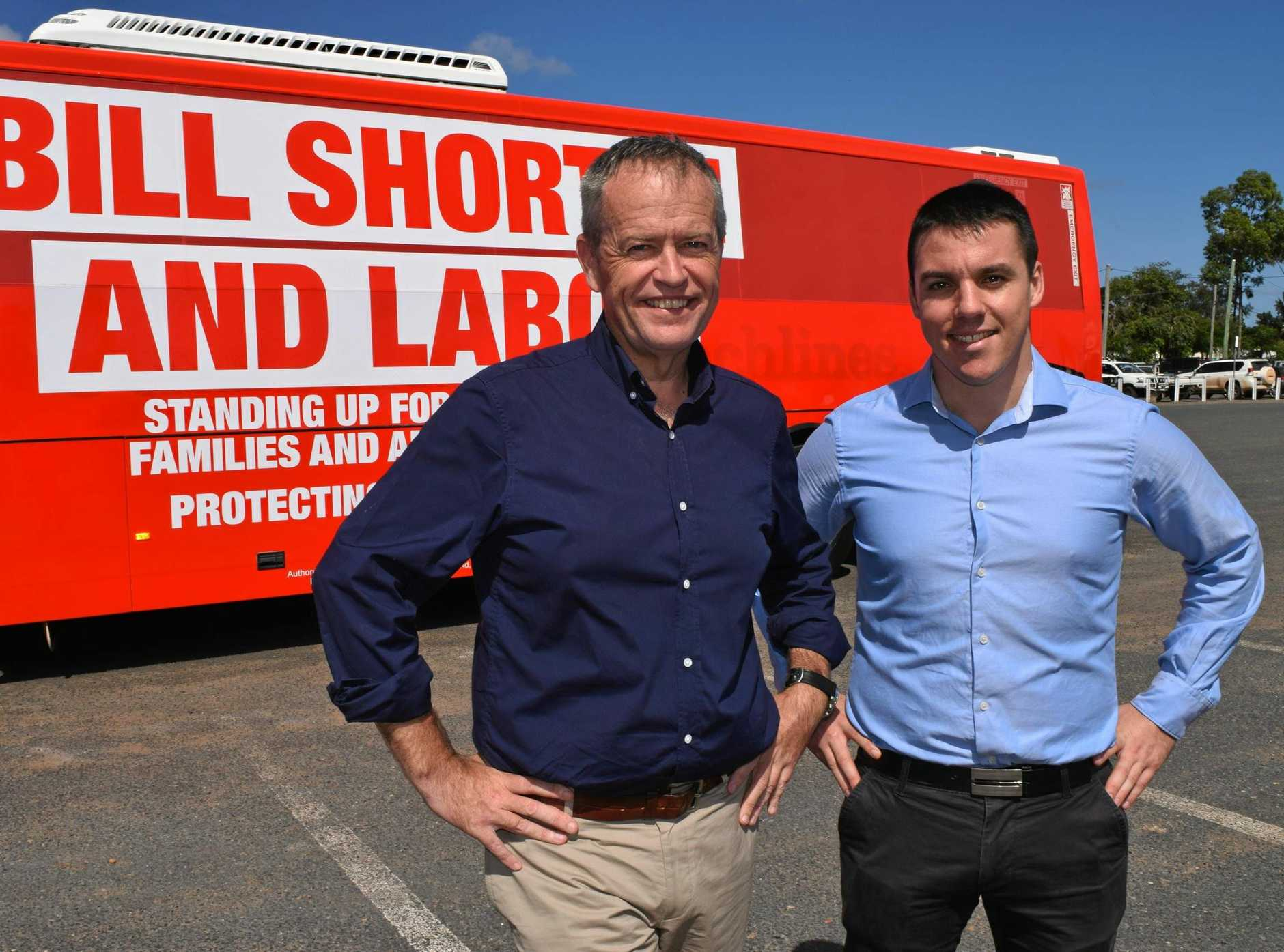 Federal opposition leader Bill Shorten will visit Gladstone for a town hall meeting on March 20.