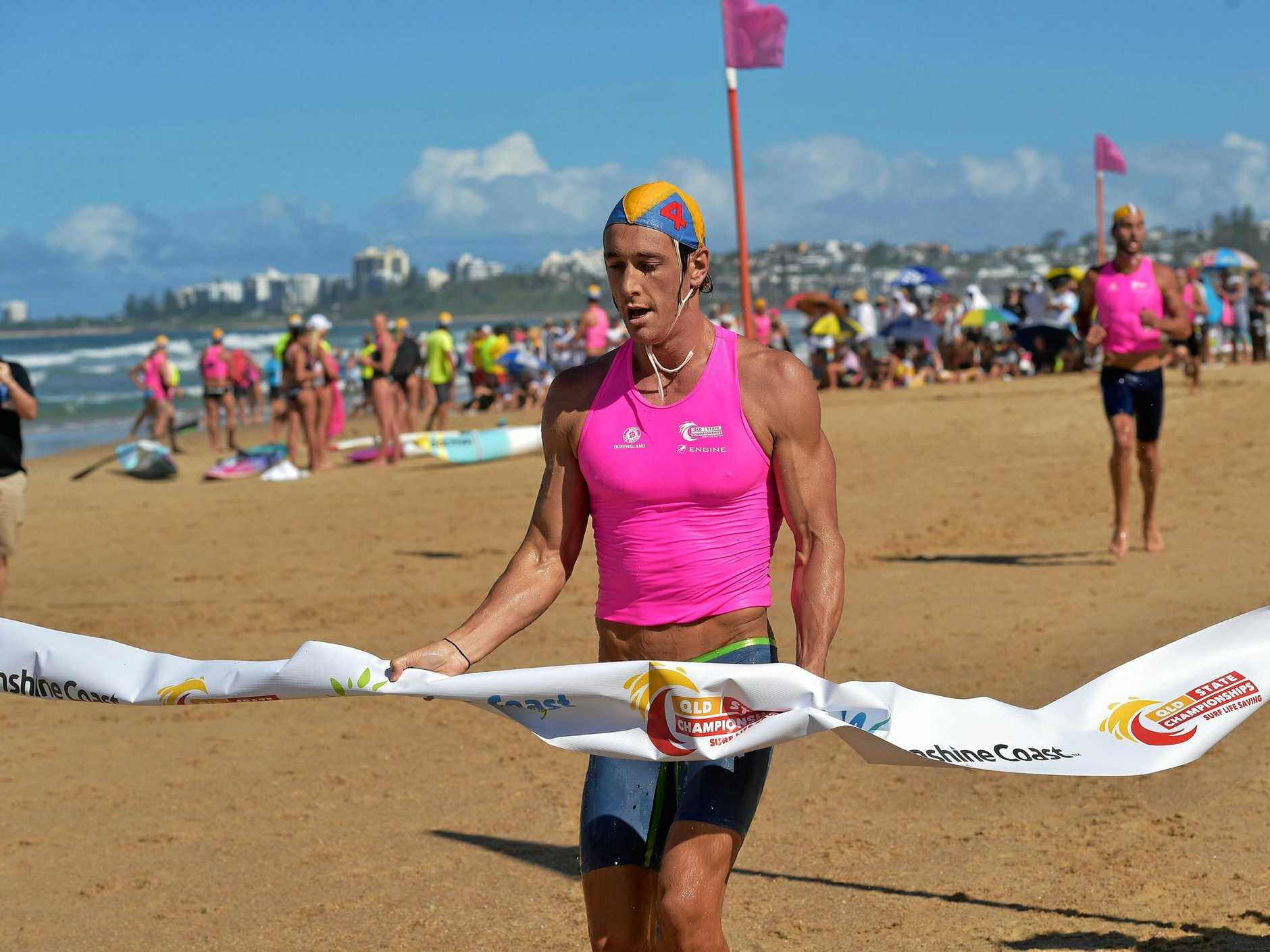 CHAMP: Ali Day claimed the ironman crown at the Queensland Surf Life Saving Championships at Maroochydore.
