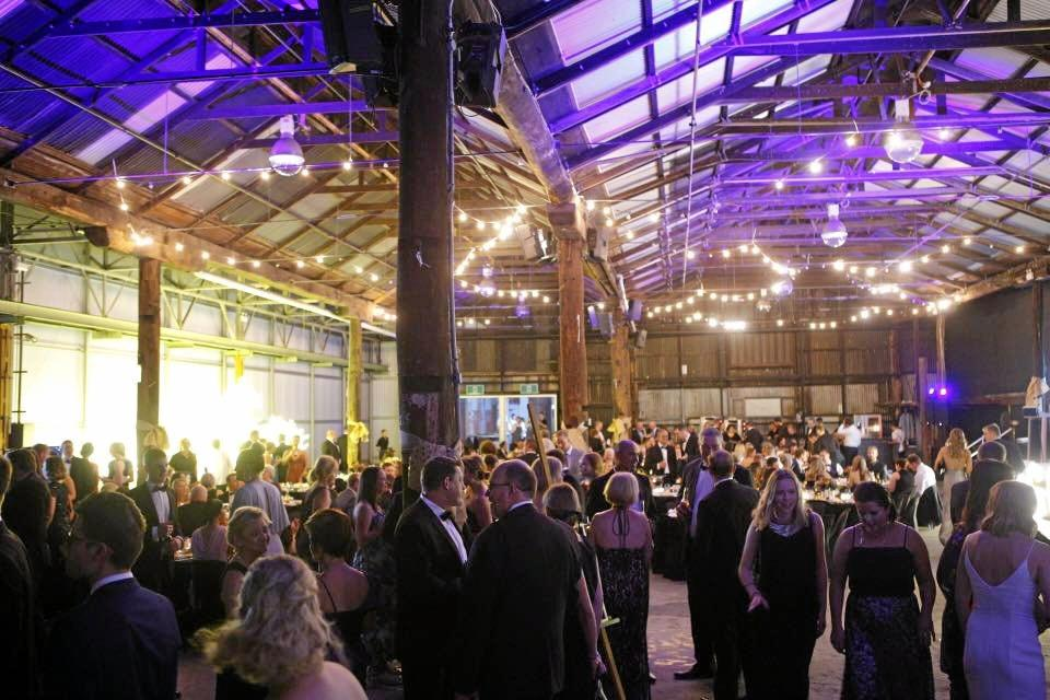 Guests enjoy a black tie ball at the Garden City Gala on Saturday.