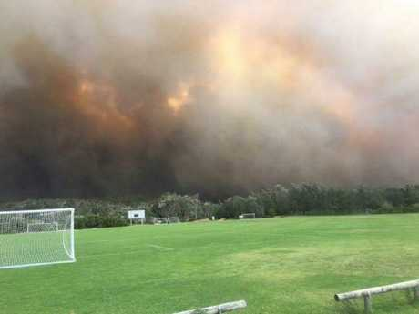 """Fire down at Tathra golf club"". Picture: Facebook/Gordon Warnock"