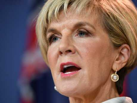 Australian Foreign Minister Julie Bishop says Australia's humanitarian visa program is 'non-discriminatory.' (AAP Image/Joel Carrett)