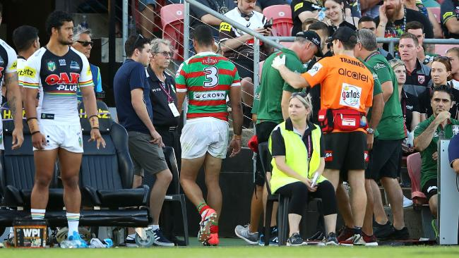 Greg Inglis was racially abused when he left the field at Penrith.