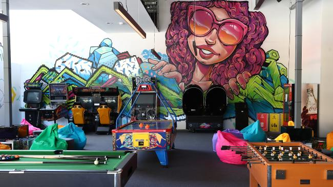 The athletes village games room.  Picture: Chris Hyde/Getty Images for GOLDOC