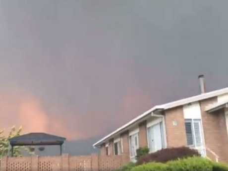 Tathra residents have been told it is too late to leave. Picture: Facebook