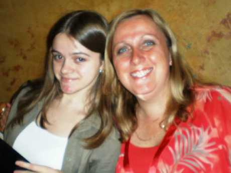 Courtney Topic and her mum Leesa Topic at her 18th birthday party.