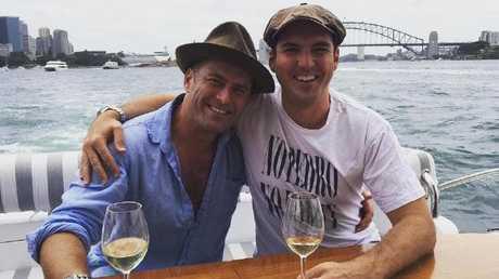 Karl Peter Stefanovic enjoying a day on Sydney Harbour. Picture: Instagram