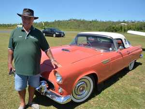 Peter Olivetta with his 1956 Thunderbird at the