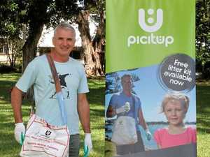 Pick up free kit and start picking up litter
