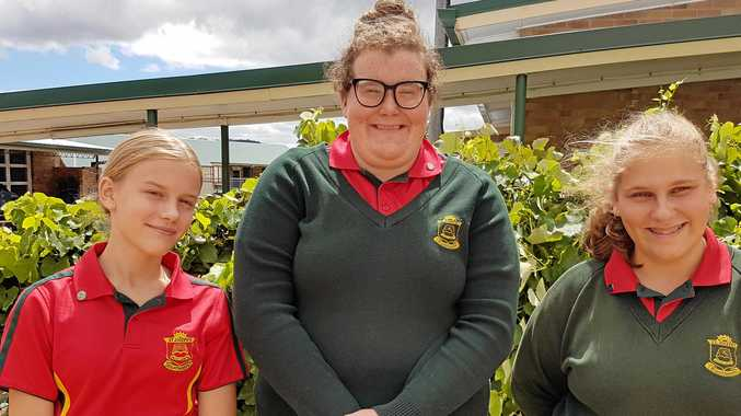 The newly elected Teen Vinnies Executive Committee (left to right) Vice President, Naomi McIntyre, Secretary, Leah Peters and President, Melissa Petroccitto