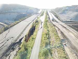 Drone: Extent of CQ mine-blast road's gaping split revealed