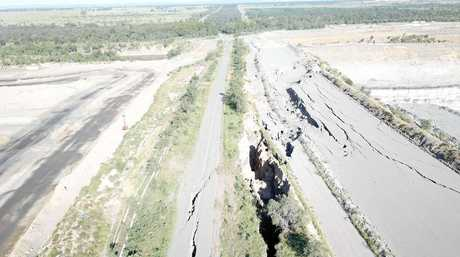 The true extent of damage to the Gibihi Rd is revealed.