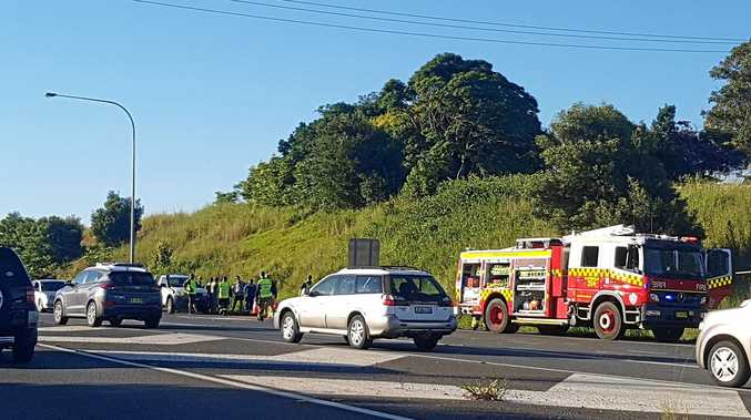 BREAKING: Car crash on the Bruxner Highway