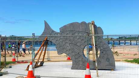 The concrete fish sculpture on Jetty Beach has got people talking.