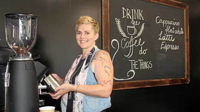CAFFEINE HIT: Tapestry Boho Couture owner Emma Edmeades is combining her love of coffee with hair.