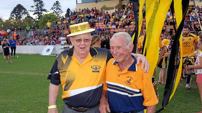 BIG LOSS: John O'Brien (left) had a passion for rugby league.
