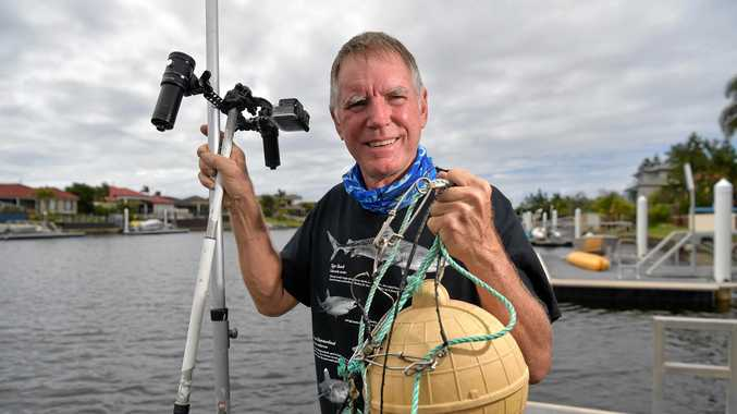 EXCITED: Tony Isaacson is hoping to undertake shark monitoring in the Sunshine Coast waterways.